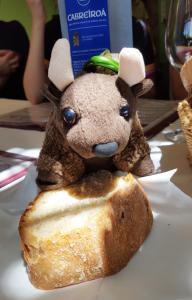 Enjoying my fresh bread