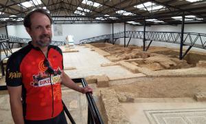 Roman ruins being excavated at Villa Romana La Tejada
