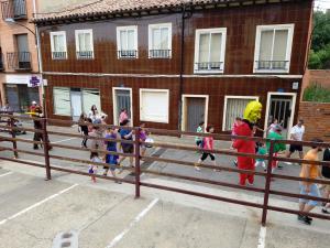 Festival parade in Sahagún