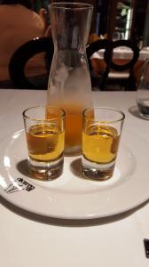 A fabulous vanilla(?) liqueur after lunch