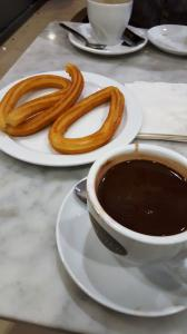 Churros y chocolate, what else?