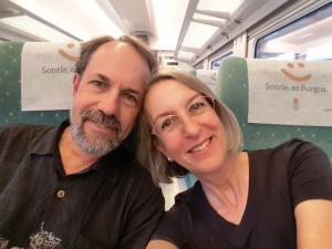 On the train to Gijón, Asturias