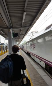 Boarding the train back to Madrid Chamartin