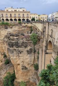 El Tajo gorge, the Parador, and Puente Nuevo, Ronda
