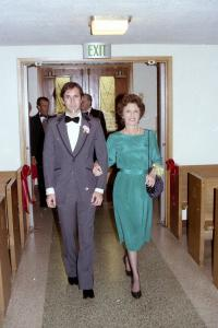 Rod Weissler escorting Claire Weissler