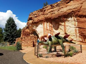Red rocks and dinos
